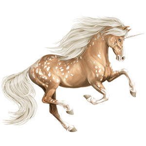Riding unicorn Morgan Strawberry roan