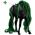 Riding unicorn Mustang Liver chestnut