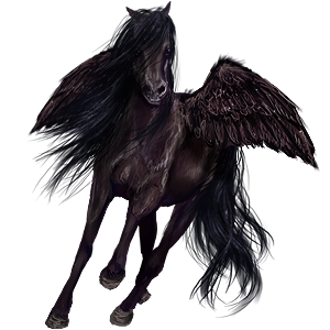 Riding pegasus Arabian Horse Mouse Gray