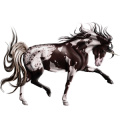 Unicorn Appaloosa Chestnut Snowflake