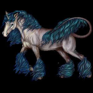 Unicorn pony Fjord Ulsblakk