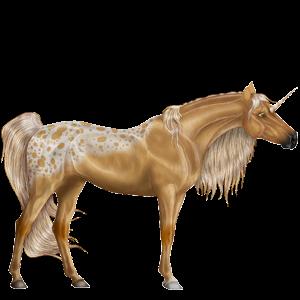 Riding unicorn Tennessee Walker Chestnut