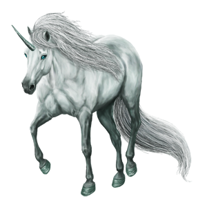 Riding unicorn Vanner Dun Tobiano