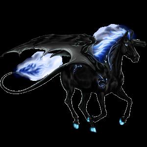 Riding pegasus Thoroughbred Dapple Gray