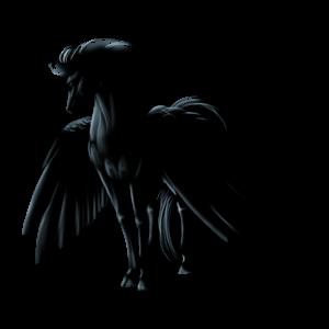 Pegasus-Reitpferd Araber Apfelschimmel