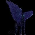 סוס פגסוס לרכיבה תורוברד שחור