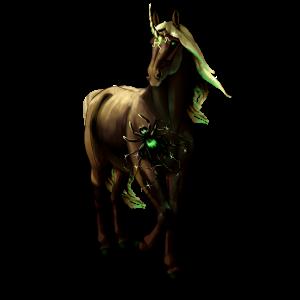 Riding unicorn Thoroughbred Dapple Gray