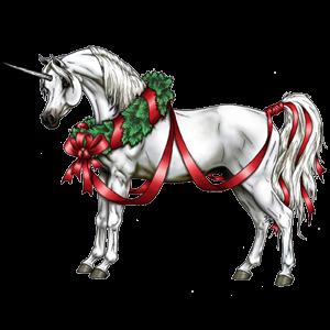 Winged unicorn pony  Shetland Cremello