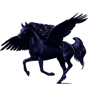 Riding pegasus Thoroughbred Black