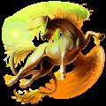 Winged riding unicorn Peruvian Paso Strawberry roan