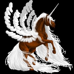 Unicorno da corsa alato Nokota Overo baio Scuro