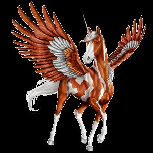 Winged riding unicorn Icelandic horse Black