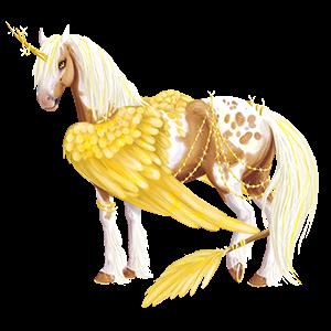 Winged riding unicorn Appaloosa Palomino Spotted Blanket