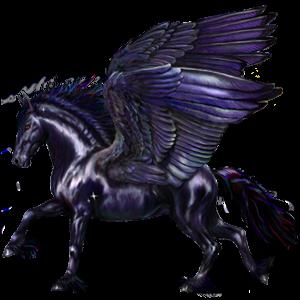 Верховой Пегас Чистокровная испанская Светло-серый