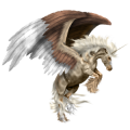 Winged Unicorn Arabian Horse Dun