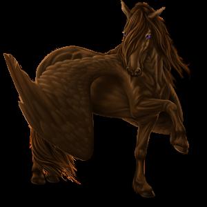 Riding pegasus Mustang Strawberry roan