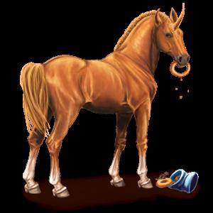 Winged unicorn pony  Connemara Chestnut