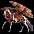 Pégase de selle Paint Horse Pie Tobiano Gris Pommelé