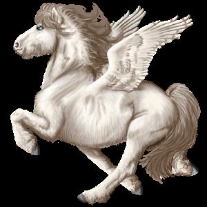 Pegasus pony Quarter Pony Light Gray