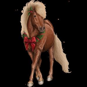 Pony Shetland Liver chestnut Tobiano