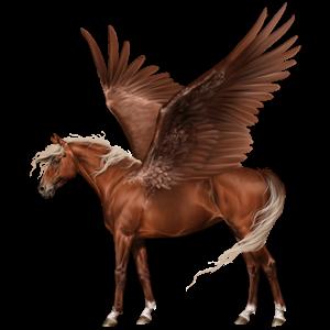 Pegasus-Reitpferd Quarter Horse Falbe