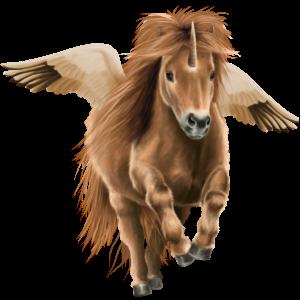 Winged Unicorn Shetland Chestnut