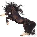 Licorne de selle Alezan