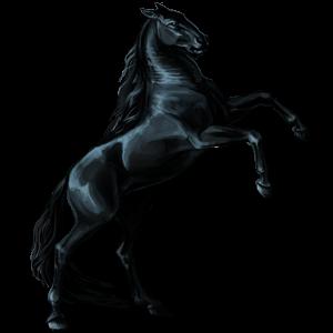 حصان مجنح بيغاسوس أصيل  رمادي خفيف