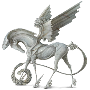 Riding pegasus Hanoverian Mouse Gray