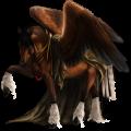 Pegaz Koń luzytański Bułana