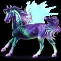 بيغاسوس ركوب حصان البنتو  كستنائي أوفيرو أبقع