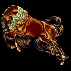 Riding Horse Vanner Dun Tobiano