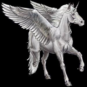 Winged riding unicorn Tennessee Walker Palomino