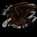 Winged riding unicorn Arabian Horse Liver chestnut