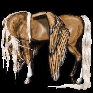 Winged riding unicorn Quarter Horse Chestnut