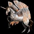 Winged riding unicorn Light Gray