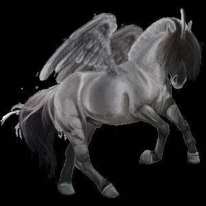 Winged unicorn pony  Kerry Bog Light Gray