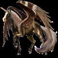 Winged riding unicorn Chestnut