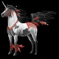 Licorne de selle Shagya Gris Clair