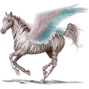 Pegasus pony Australian Pony Light Gray