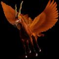 Winged riding unicorn Arabian Horse Flaxen Liver chestnut