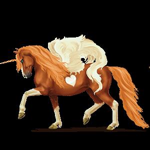 Licorne de selle ailée Akhal-Téké Gris Pommelé