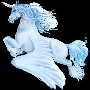 Winged riding unicorn Icelandic Horse Chestnut