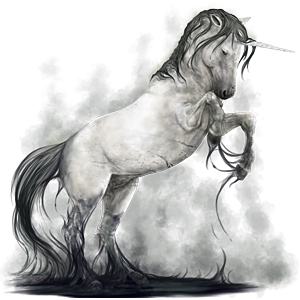 Unicorn pony Welsh Dapple Gray