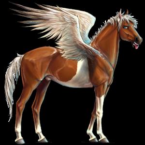 Pegasus-Reitpferd Araber Fuchs mit heller Mähne