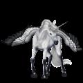 Licorne de selle ailée Mustang Gris Pommelé