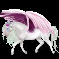 Licorne de selle ailée Alezan