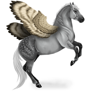 Riding pegasus Hanoverian Mouse Grey
