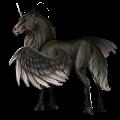 Unicornio de montar alado Gris tordo