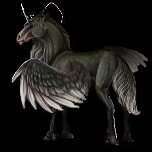 Unicornio de montar alado Apalosa Bayo moteado